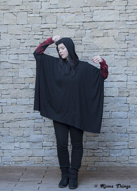 Sewing A Catherine Cowl Neck Poncho (Seamingly Smitten Pattern)