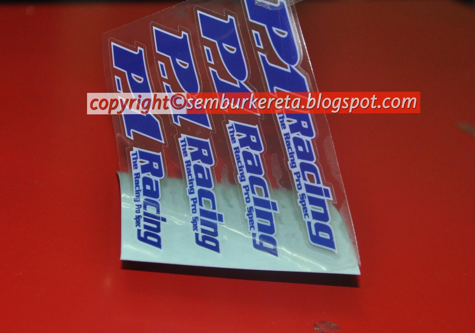 P1 Racing Decal Sticker Carsgeekz Te37