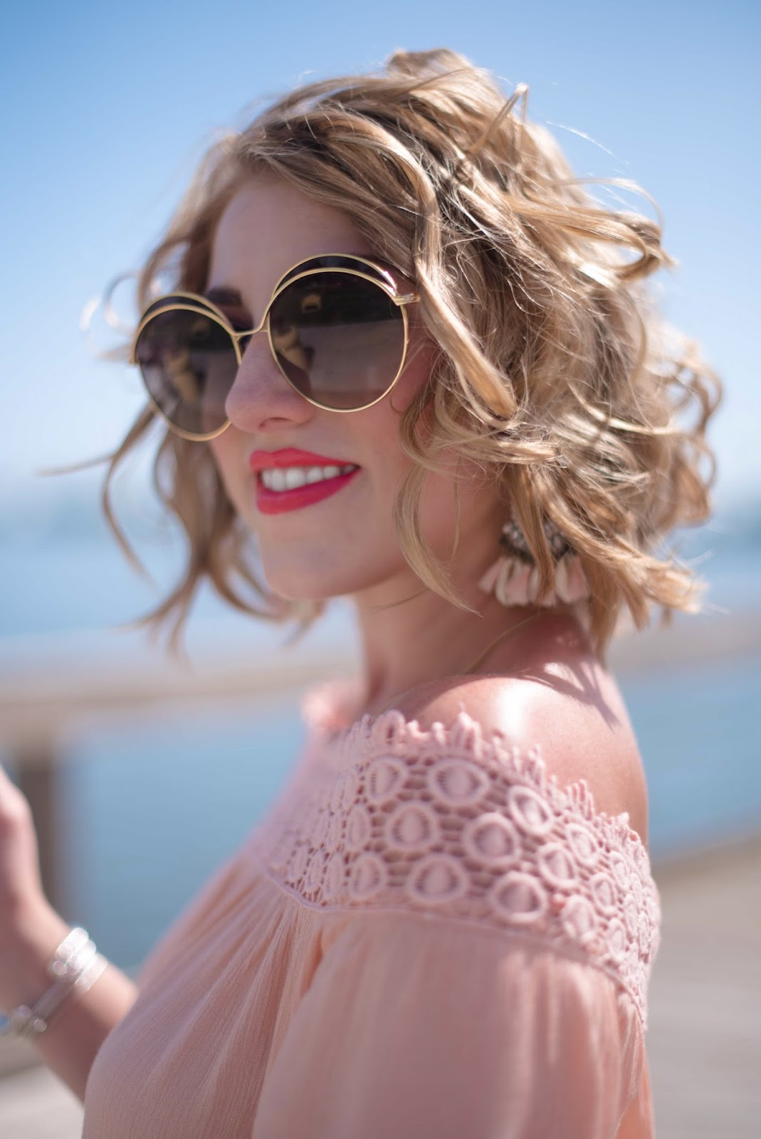 Sonix Oasis Round Sunglasses - Click through to see more on Something Delightful Blog!
