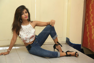 Deekshita Parvathi in a short crop top and Denim Jeans Spicy Pics Beautiful Actress Deekshita Parvathi January 2017 CelebxNext (159).JPG