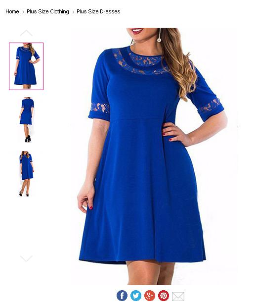 fb7affa720f Plus Size Knee Length Dress - Decorative Cutouts