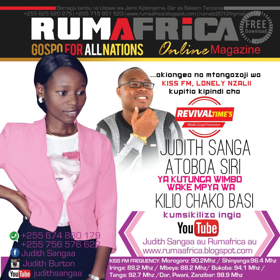 Rumafrica magazine judith atoa siri ya kutunga wimbo wake Internet magasin