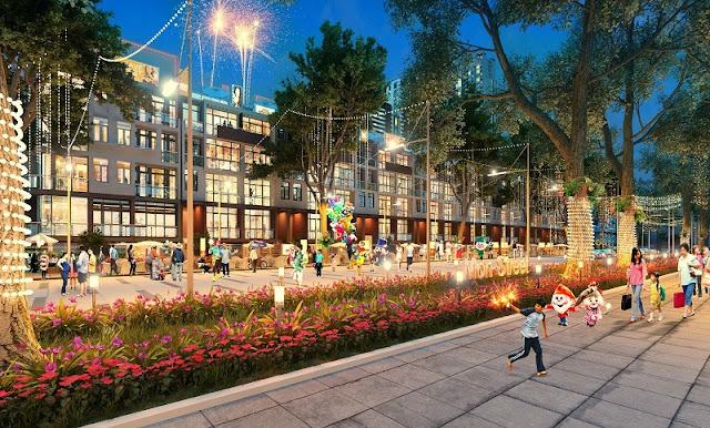 Khu phố Mon Street dự án chung cư HD Mon City – Mỹ Đình