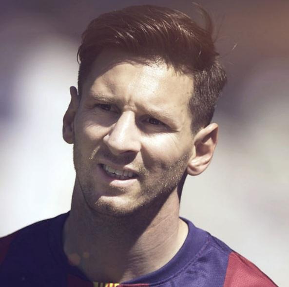 Lionel Messi Los peinados de la