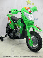 DoesToys DT413 Hero Force 62 Motocross battery Operated Toy Motorcycle Green