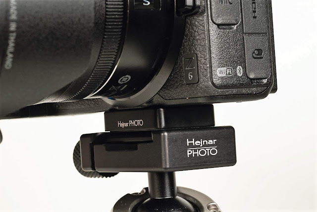 Hejnar D044 QR plate on Nikon Z mirrorless camera