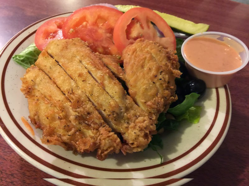 "Chicken ""sandwich"" at Al's Place"