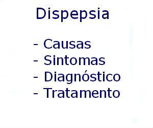 Dispepsia causas sintomas diagnóstico tratamento prevenção riscos complicações