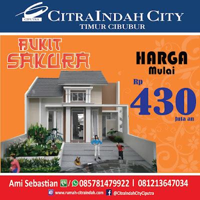 Cluster Bukit SAKURA (Real Estate)  Citra Indah City mulai dipasarkan - Harga Mulai 430 Jtan