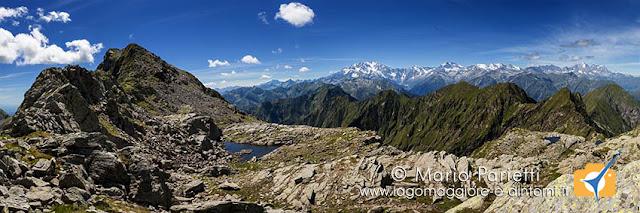 Panorama su valle Anzasca e monte Rosa
