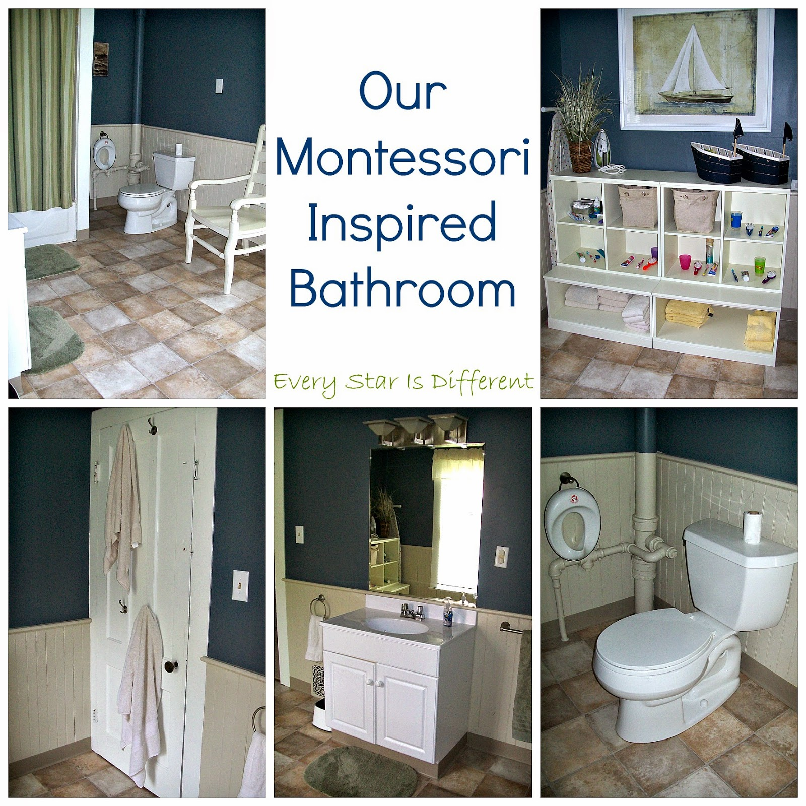 Our Montessori Inspired Bathroom Every Star Is Different