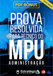 Prova Resolvida Para Técnico do MPU Administração