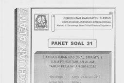 SOAL TPM IPA KABUPATEN SLEMAN 2015 (Paket 31-35)