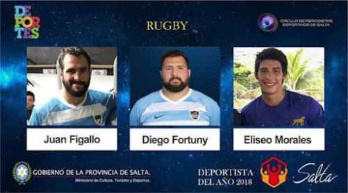 La terna de rugby la integran: Juan Figallo, Diego Fortuny y Eliseo Morales