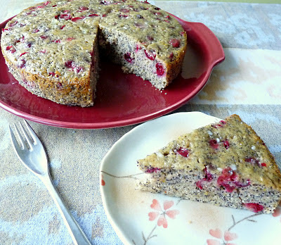 Cranberry Orange Poppy Seed Loaf Cake