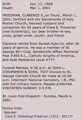 clarence friedman obituary