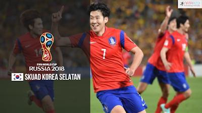 Skuad Susunan Pemain Korea Selatan di Piala Dunia 2018
