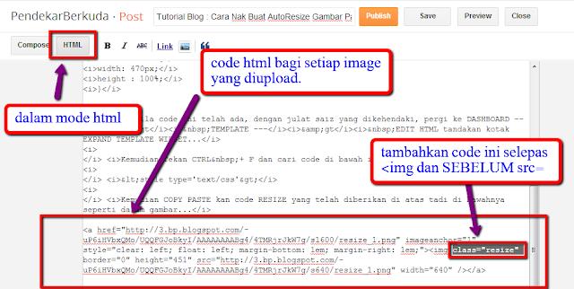 Tutorial Blog : Cara Nak Buat AutoResize Gambar Pada Entri Atau Widgets