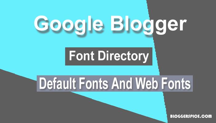 Blogger font lists