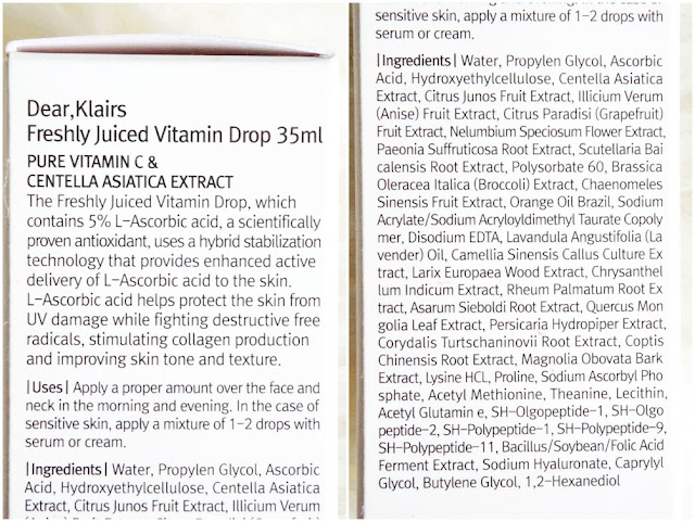 review klairs freshly juiced vitamin drop