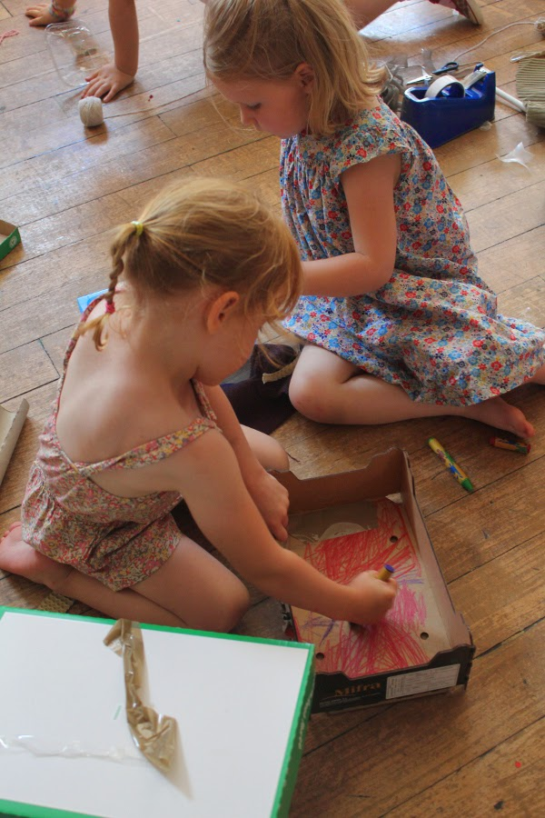 There was colouring inside boxes. Because colouring inside a box is just as good as anywhere else.
