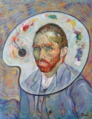 Retrato surrelista realizado por pintora Rudi de Van Gogh