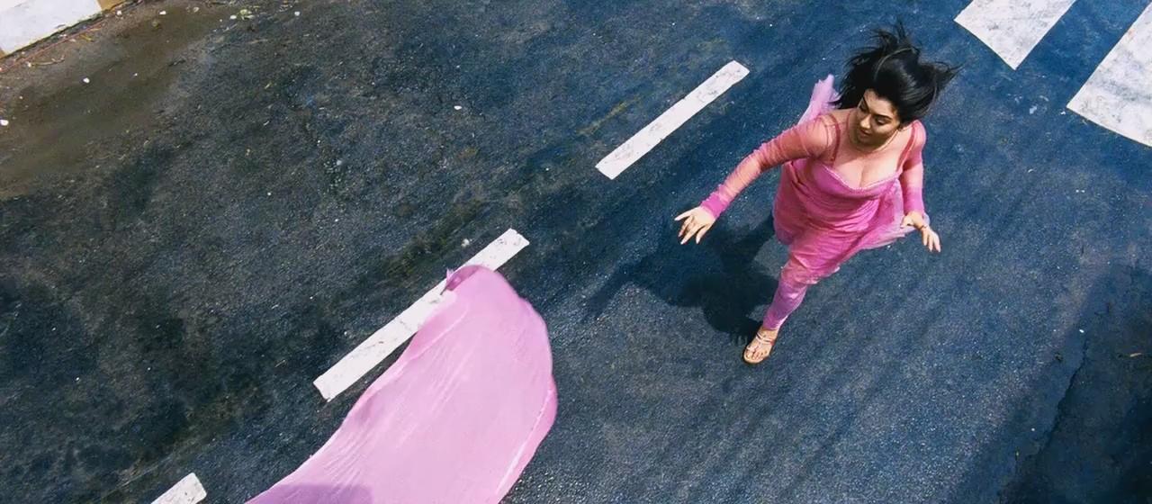 OnLy AcTrEsS: Hansika Hot Run And Cleavage Show Pink Churidar