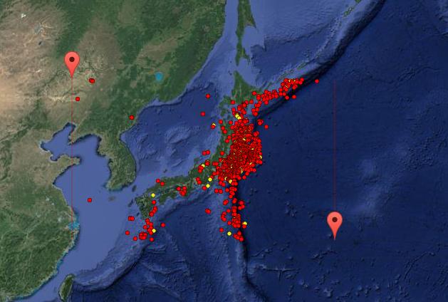 Earthquake Prediction Japans Earthquake Activity Since R - Japan quake map 2016