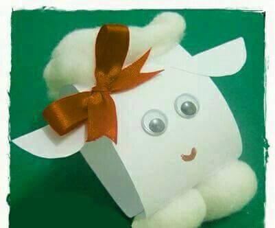 Idea to make something from folded paper for kids : cow