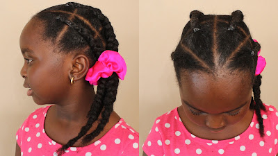 How to Fake Cornrow | Natural Hair | Sensitive Scalp DiscoveringNatural African Naturalistas