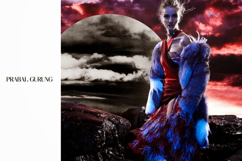 Rosie Huntington-Whiteley features for Prabal Gurung's eerie Fall/Winter 2014 Campaign