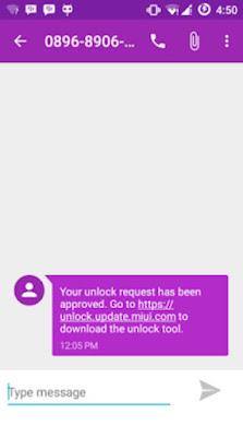 sms dari Tutorial Cara Termudah Unlock Bootloader
