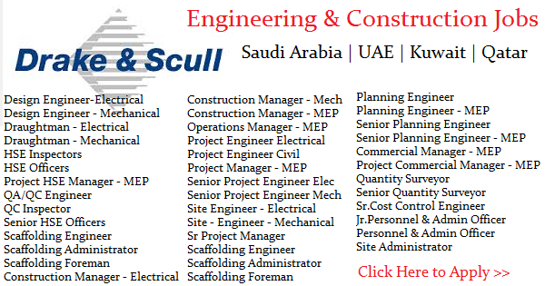 Engineering Jobs at Drake & Skull Job Openings | UAE | Oman