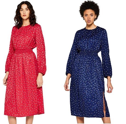 puedes comprar vestido en rojo y azul igual de baratos