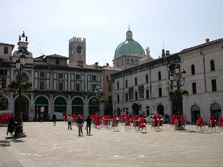 Brescia's elegant Piazza della Loggia
