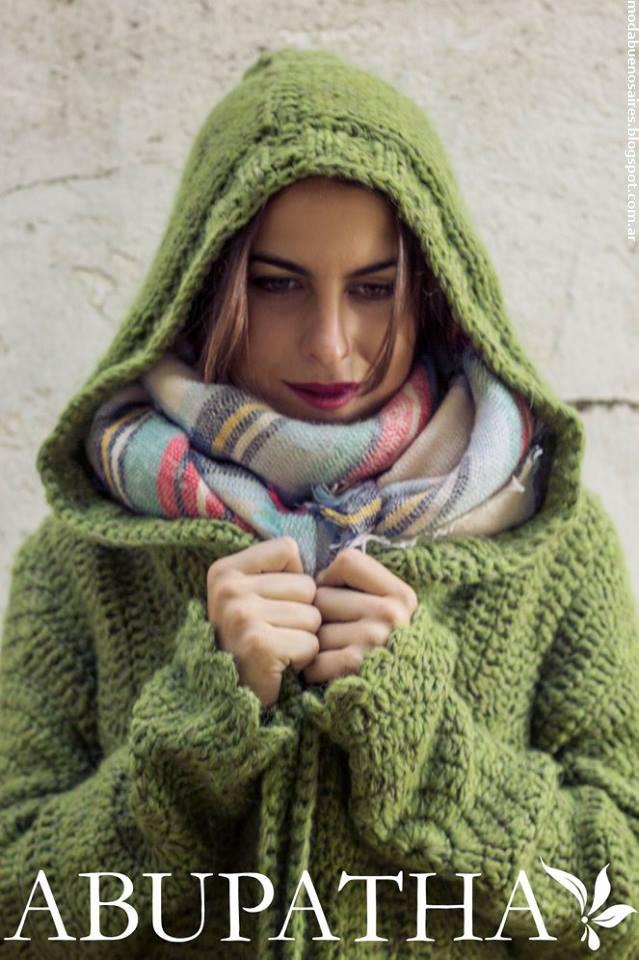 Sacos tejidos con capucha invierno 2016 Abupatha.