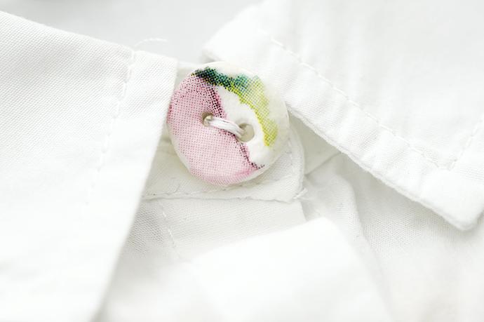 Selbstgemachte Knöpfe aus Fimo | beklebt mit Serviettenpapier | Dekoknöpfe