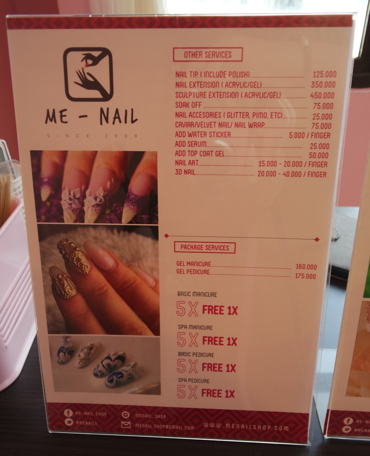 Review : Nail Art at Me-Nail (SPONSORED) - Pink and Undecided