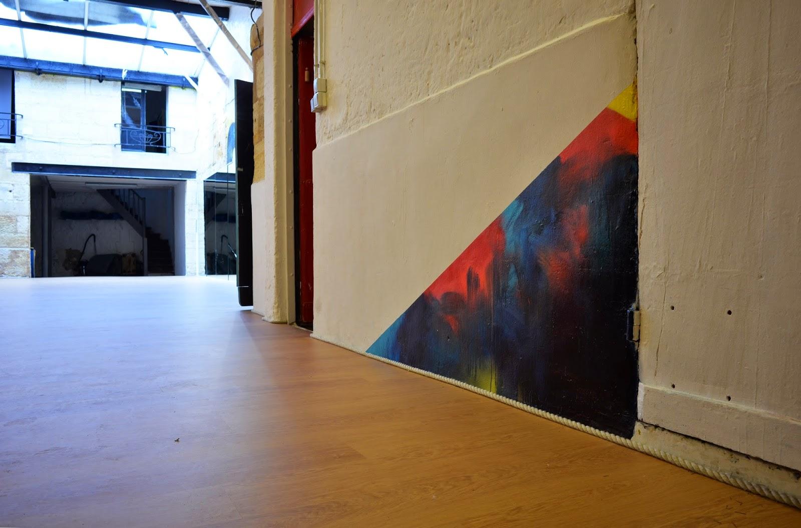 abstraction peinture abstraite salle de danse bordeaux