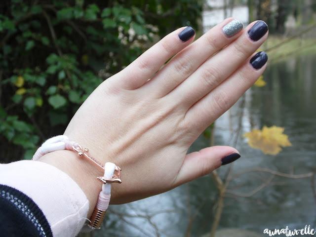 nail-art bleu nuit & argenté