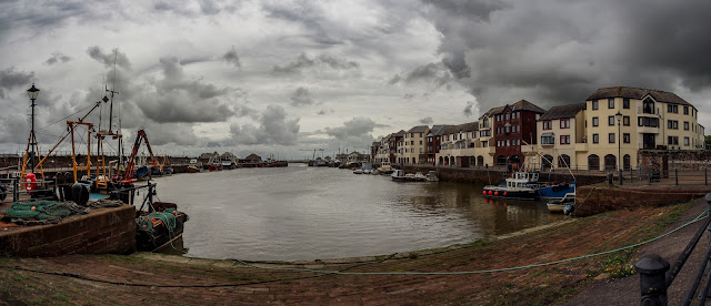 Photo of storm clouds gathering over Maryport Harbour