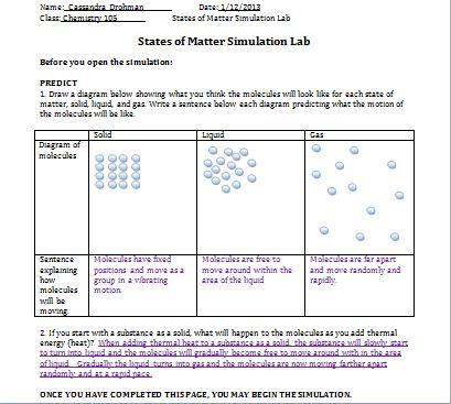 Chem 105: Activity 6: States of Matter and Intermolecular ...