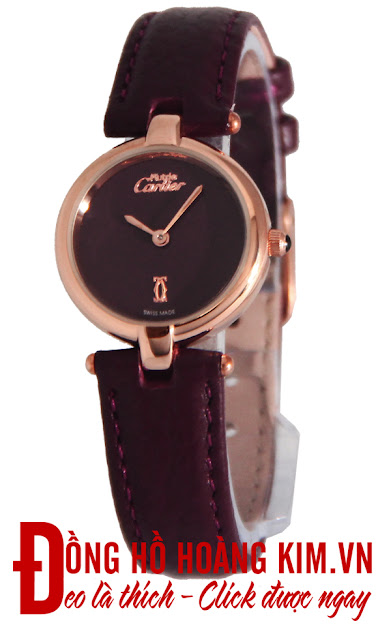 Đồng hồ nữ dây da giá rẻ dưới 1 triệu Cartier
