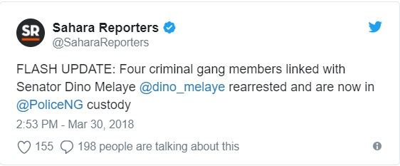Police rearrest 5 suspected assassins allegedly linked to Dino Melaye who escaped from jail