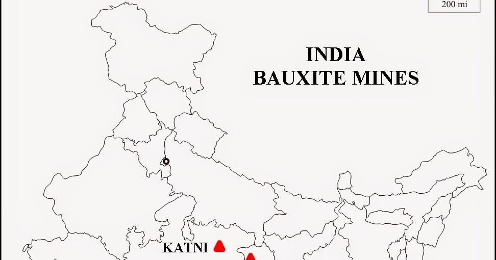 Geography and We: MAP WORK BAUXITE MINES