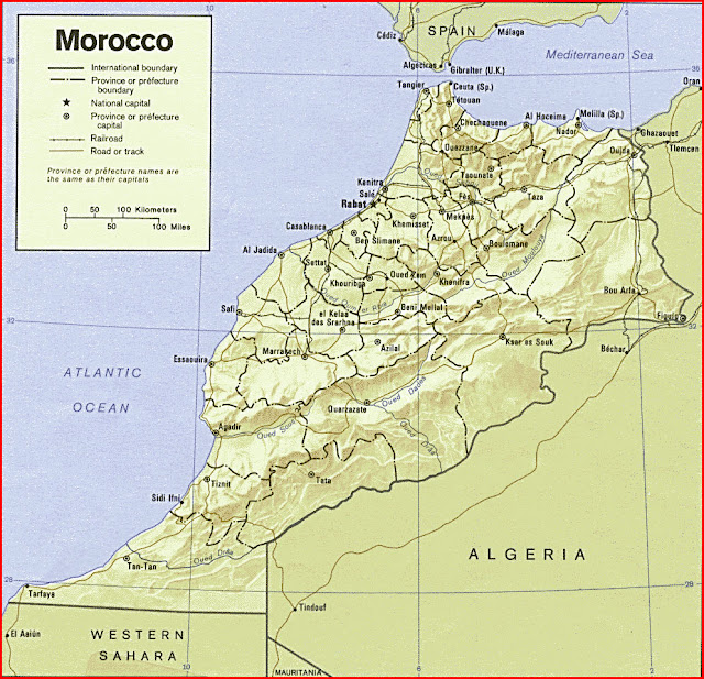 image: Morocco relief map