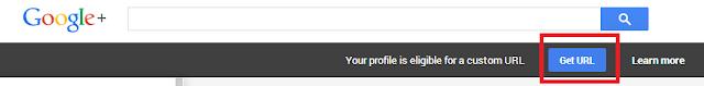 get G+ custom URL