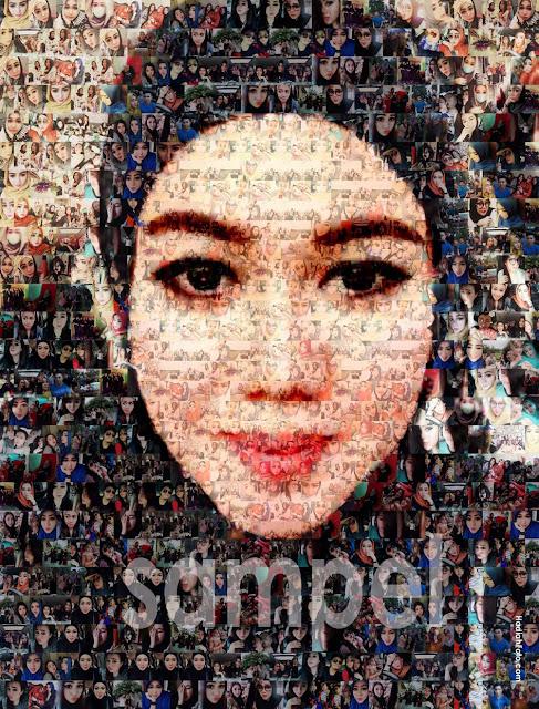 Jasa Foto Mozaik | Kado Ulang Tahun, perpisahan, farewell, pernikahan