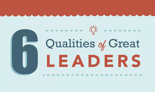 Top 6 Qualities Of Great Leaders - #infographic