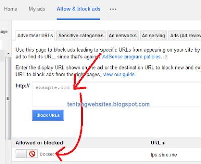 Cara Memblokir Iklan adsense yang tidak sesuai nurani